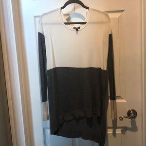 Express asymmetrical tunic sweater